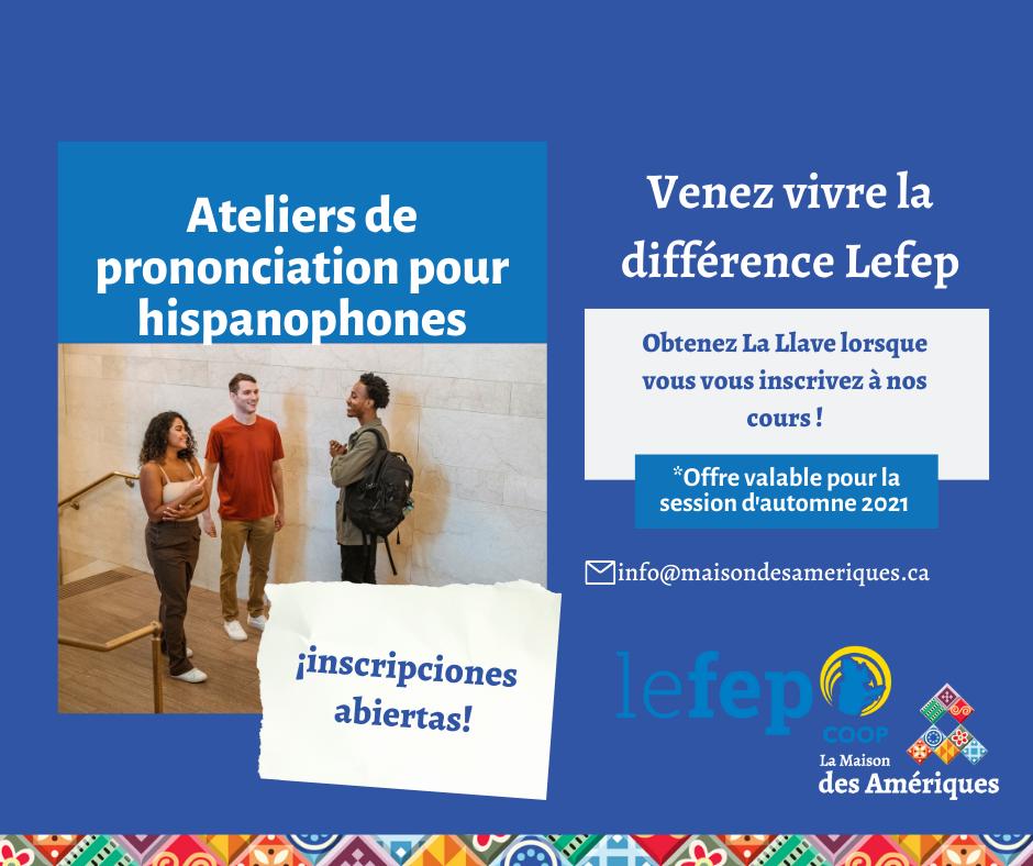 Ateliers de prononciation pour hispanophones